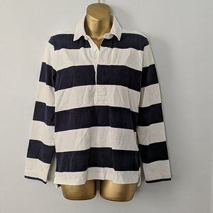 J crew rugby polo top size small new